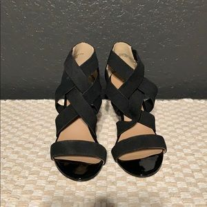 Black Ann Taylor Wedge